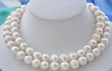 11-12mm Süßwasser Aquakultur weiße Perlenkette 86cm