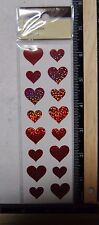 Recollections RED HEARTS Prismatic Stickers WEDDING LOVE VALENTINE CUPID