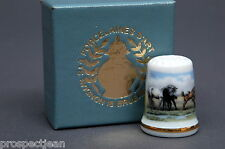 TCC Avignon France Camargue Horses Boxed China Thimble B/142