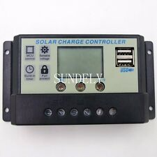 20A 12V-24V LCD Display PWN Solar Panel Regulator Charge Controller USB AU STOCK