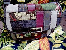 Liz Claiborne New York Multi-Colored Tapestry Design Satchel Shoulder Bag