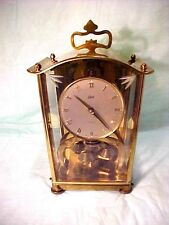 VINTAGE Aug Schatz & Sohne key wind Clock 400 Day Carriage Style #53 Germany OLD