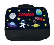 Personalised Children's Kids Outer Space School Lunch Bag / Box  *Any Name*