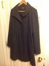 DKNY CHARCOAL GREY WOOL BLEND COAT SZ 10