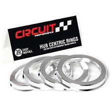 108mm OD to 78.1mm ID Circuit Performance Silver Aluminum Hub Centric Rings