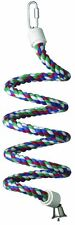 Super Bird Creations 1/2-Inch by 52-Inch Rope Bungee Bird Toy, Small , New, Free