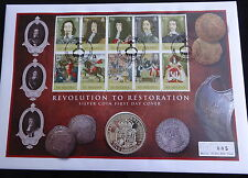 2010 SILVER PROOF GUERNSEY £5 COIN + COA PNC REVOLUTION TO RESTORATION 1/450