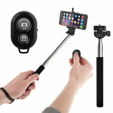 Extendable Self Selfie Stick with Clamp+Bluetooth Remote Shutter