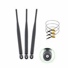 3 x 6dBi WiFi RP-SMA DB Antenna +3 U.fl Mod Kit for Linksys WRT600N WRT610N
