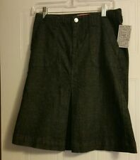 LUX Denim Skirt by Urban Outfitters Front Pleat Dark Wash Sz 3 Measures 28 x22