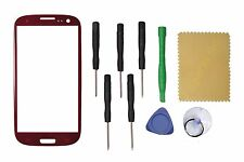 Red Front Outer Touch Screen Glass Replacement For Samsung Galaxy S3 GT-i9300