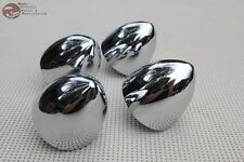 "3"" Custom Chrome Bolt On Bullet Noses Vintage Car Hot Rat Rod Truck Set of 4 New"