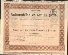 RARE =  Automobiles & Cycles HURTU 1899 (F)