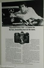 1974 Honeywell Pentax ESII camera ad Mercedes Benz hood