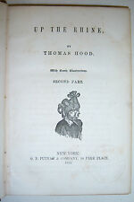 Putnam's Popular Library UP THE RHINE By Thomas Hood. 2nd part 1852 comic illus