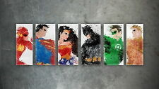 "045 Justice League - Superman Wonderwoman Batman Super Hero 25""x14"" Poster"