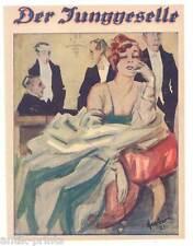 """Mode-Art Deco - Titelblatt aus """"Der Junggeselle"""" 1921"""