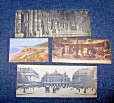 ANTIQUE VINTAGE LOT 13 LARGE POSTCARDS PANORAMIC PHOTOS B&W FRANCE PEOPLE PLACES