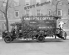 Photograph Post Office  Mail Early Christmas Truck Parade 1921 8x10
