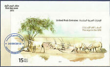 UAE MNH FDC FIRST DAY COVER 2013 ORYX ARABIAN WILD COWS ANTELOPES ANIMAL ANIMALS
