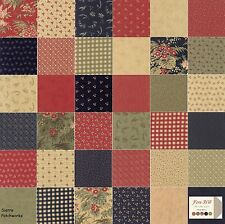 """FERN HILL Charm Pack from MODA - (42) 5"""" factory-cut squares - 2180PP"""