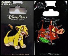 Disney Parks 2 Pin Lion King Simba Floppy Ears + Timon & Pumbaa Hula - NEW