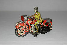 Antique Arnold German Tin Litho Wind Up Motorcycle Toy Moto Bike Works EX L@@K