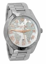 BRAND NEW WOMENS MICHAEL KORS (MK5958) LAYTON CRYSTAL GLOBE SILVER WATCH