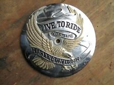 Chrome Harley Davidson Timing Cover With Gold Tone Eagle