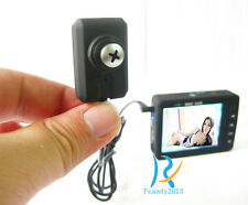 Screw portable LCD mini spy all in one micro hidden pinhole camera recorder DVR