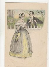 Vintage Embossed Romantic Greetings Postcard 866a