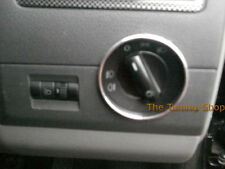 FOR VOLKSWAGEN VW T5 TRANSPORTER MULTIVAN CHROME LIGHT SWITCH RING SURROUND NEW