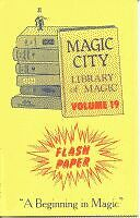 FLASH PAPER BOOK #19 Magic Trick Book Effects Fire Flame Illusion