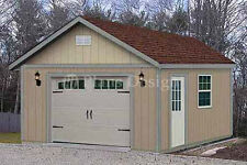 16 x 24 Garden Sorage Structure / Car Garage Shed Plans, Design #51624