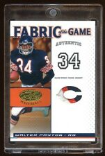 2007 CERTIFIED WALTER PAYTON #D 01/25 PRIME PATCH LOGO 3 COLOR FABRIC OF THE GAM