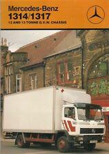 Mercedes-Benz 1314 1317 4x2 Rigid Truck 1987 UK Market Foldout Sales Brochure