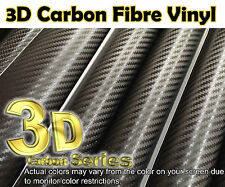 【3D CARBON FIBER Black】1m(39.4in)x0.75m(29.5in)Wrap Vinyl Sheet Sticker Film