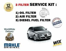 FOR ALFA ROMEO 147 1.9 JTD 3/2003- NEW SERVICE SET OIL AIR FUEL 3 FILTER KIT