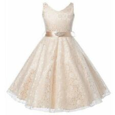 Formal Princess Bridesmaid Birthday Lace Flower Girl Dress Wedding Party Dresses