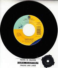 """ERIC CLAPTON  Tears In Heaven & Tracks And Lines 7"""" 45 rpm vinyl record NEW"""