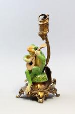 Leuchter Neufertigung Kerzenhalter Skulptur Frosch mit Laute 6233041
