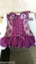 Ann Summers Hourglass Purple  Suspender Cami Size 10 - 12 NWOT