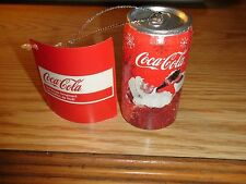 "COCA-COLA SANTA COKE CAN CHRISTMAS ORNAMENT - Kurt Adler  3"" x 1 1/2"""