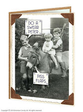 Brainbox Candy Rude black and white picture funny greetings/birthday card Peter