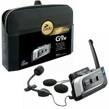 New Cardo Scala Rider G9x Solo Motorcycle Bluetooth Intercom System - BTSRG9X