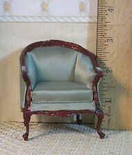 Bespaq Green Satin Arm Chair - Dollhouse Miniature (BP-112)
