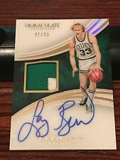 Larry Bird 2015-16 Immaculate Autograph Acetate Jersey Numbers Patch 31/33 Auto