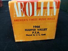 "Vintage Aeolian Player Piano Roll ""Harper Valley P.T.A."" 1966 J. Lawrence Cook"