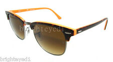 Authentic RAY-BAN Clubmaster Tortoise Sunglasses RB 3016 - 112685  *NEW*  51mm