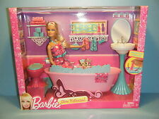 2012 BARBIE GLAM DOLL & BATHROOM PLAYSET #Y2856  *NEW*